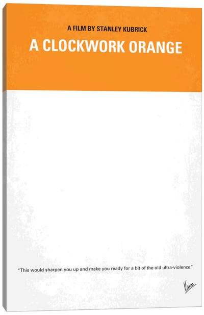 A Clockwork Orange Minimal Movie Poster Canvas Art Print