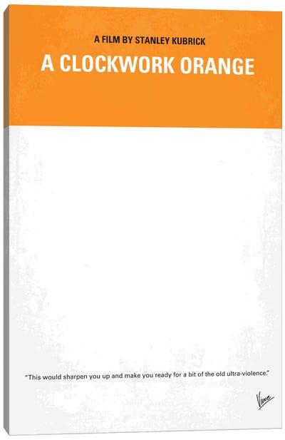 A Clockwork Orange Minimal Movie Poster Canvas Art Print