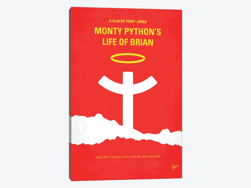 Monty Python's Life Of Brian Minimal Movie Poster by Chungkong 1-piece Canvas Art