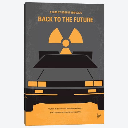 Back To The Future Minimal Movie Poster Canvas Print #CKG192} by Chungkong Canvas Art Print