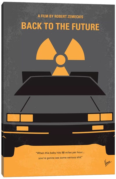 Back To The Future Minimal Movie Poster by Chungkong - Minimalist Movie Posters Canvas Art Print