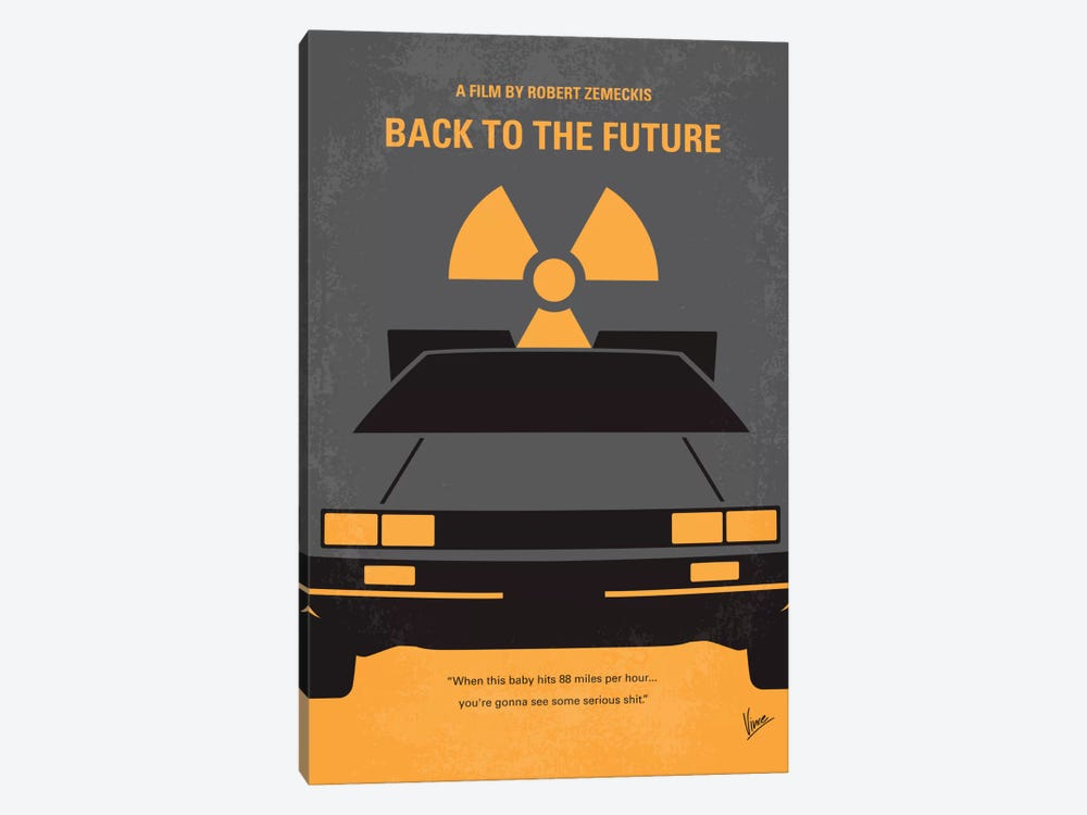 Back To The Future Minimal Movie Poster by Chungkong 1-piece Canvas Art Print