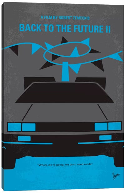 Back To The Future II Minimal Movie Poster Canvas Art Print
