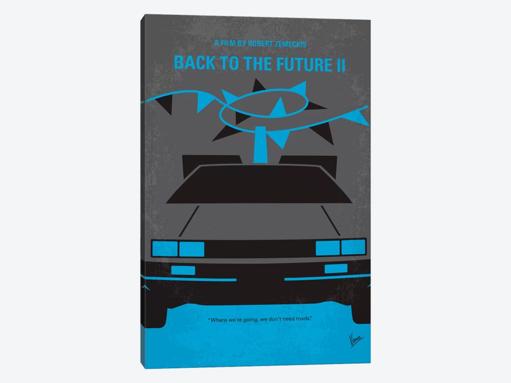 Back To The Future II Minimal Movie Poster by Chungkong 1-piece Canvas Wall Art