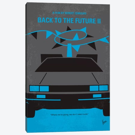 Back To The Future II Minimal Movie Poster Canvas Print #CKG193} by Chungkong Canvas Print