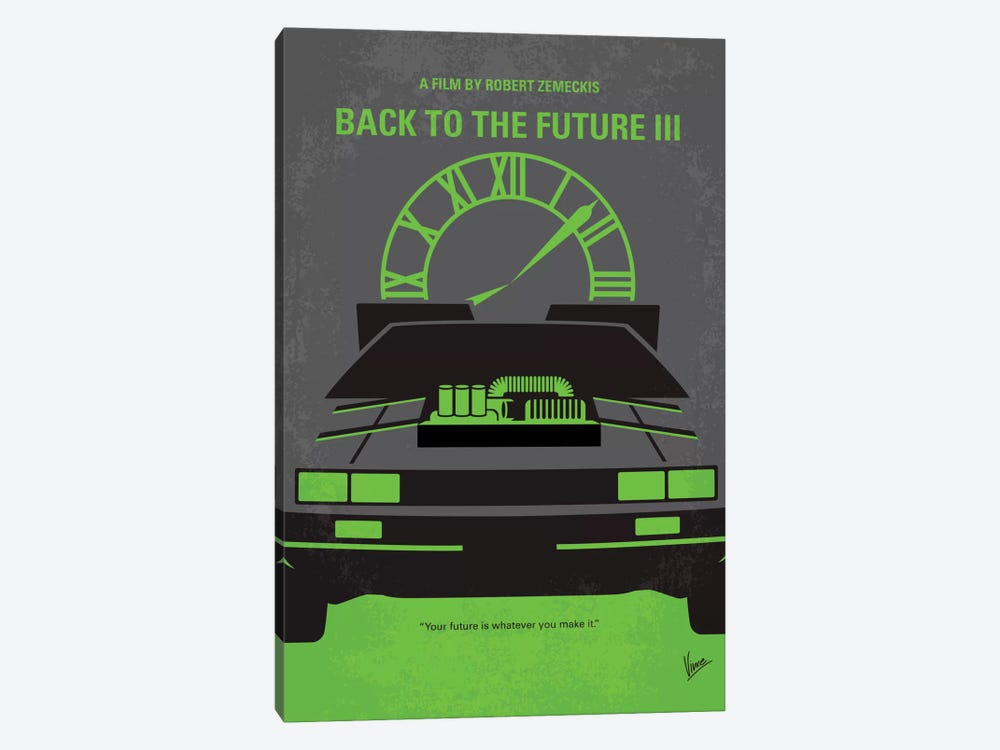 Back To The Future III Minimal Movie Poster by Chungkong 1-piece Canvas Print