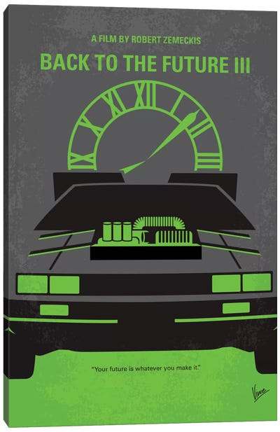 Back To The Future III Minimal Movie Poster Canvas Art Print