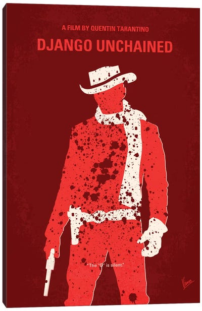 Django Unchained Minimal Movie Poster Canvas Art Print