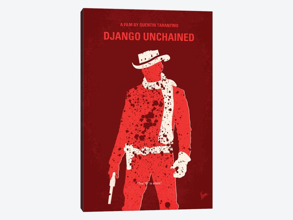 Django Unchained Minimal Movie Poster by Chungkong 1-piece Canvas Wall Art