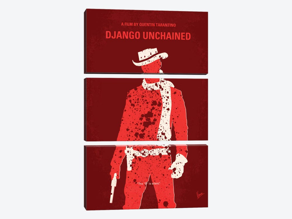 Django Unchained Minimal Movie Poster 3-piece Canvas Art