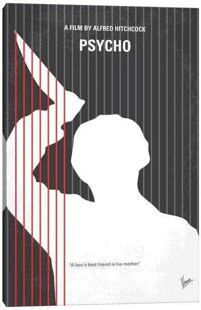 Psycho Minimal Movie Poster Canvas Art Print