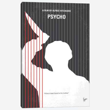 Psycho Minimal Movie Poster Canvas Print #CKG196} by Chungkong Canvas Art