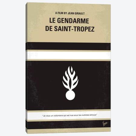 Le Gendarme de Saint-Tropez Minimal Movie Poster Canvas Print #CKG197} by Chungkong Canvas Artwork