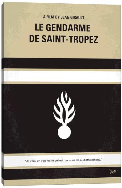Le Gendarme de Saint-Tropez Minimal Movie Poster Canvas Art Print