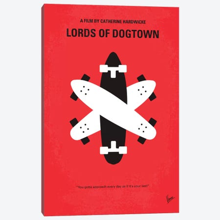 The Lords Of Dogtown Minimal Movie Poster Canvas Print #CKG199} by Chungkong Canvas Art Print
