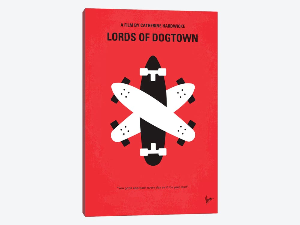 The Lords Of Dogtown Minimal Movie Poster by Chungkong 1-piece Canvas Artwork