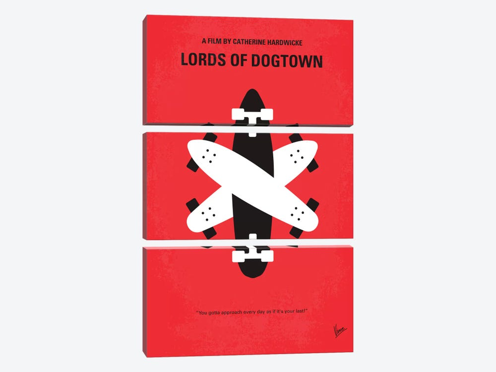 The Lords Of Dogtown Minimal Movie Poster by Chungkong 3-piece Canvas Artwork