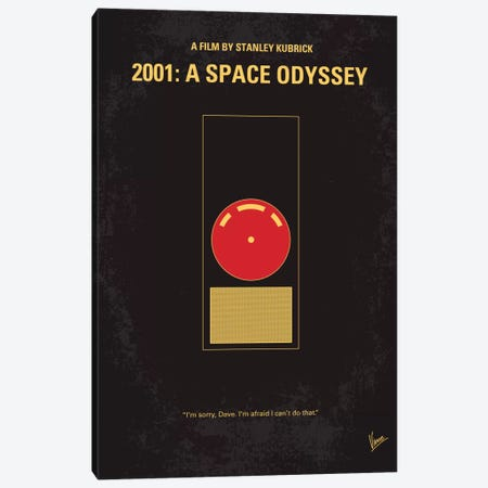 2001: A Space Odyssey Minimal Movie Poster Canvas Print #CKG19} by Chungkong Canvas Art