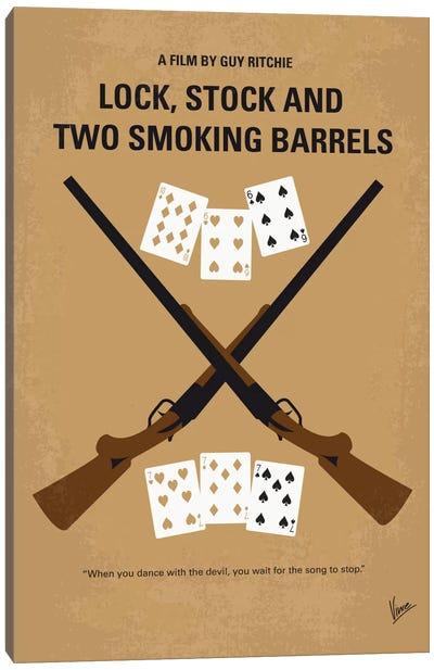 Lock, Stock And Two Smoking Barrels Minimal Movie Poster Canvas Art Print
