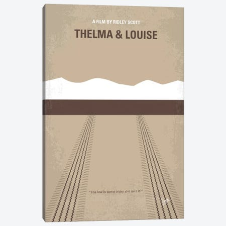 Thelma And Louise Minimal Movie Poster Canvas Print #CKG200} by Chungkong Canvas Print