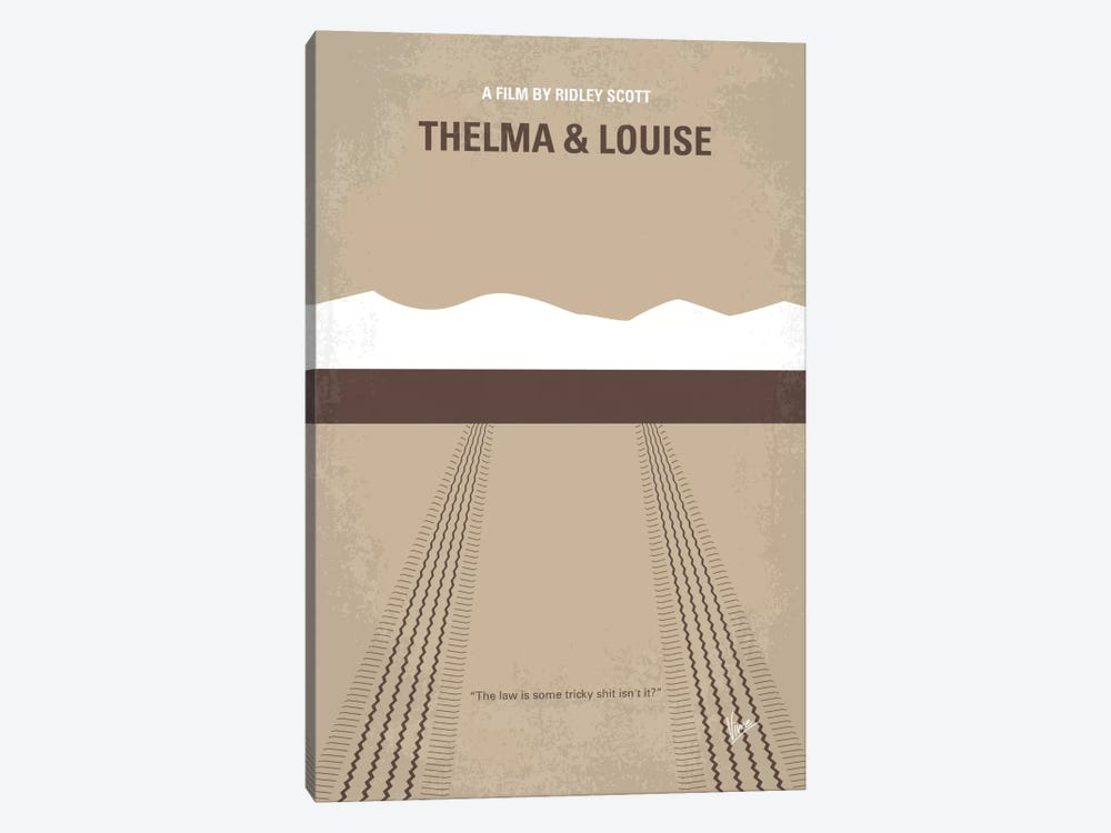 Thelma And Louise Minimal Movie Poster by Chungkong 1-piece Canvas Art