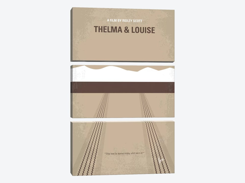 Thelma And Louise Minimal Movie Poster by Chungkong 3-piece Canvas Wall Art