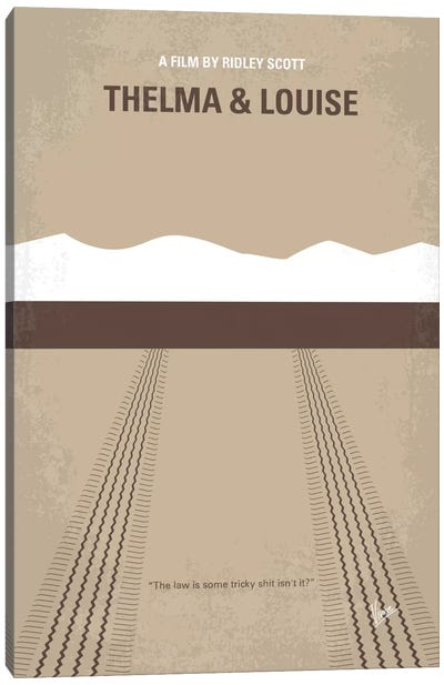 Thelma And Louise Minimal Movie Poster Canvas Art Print