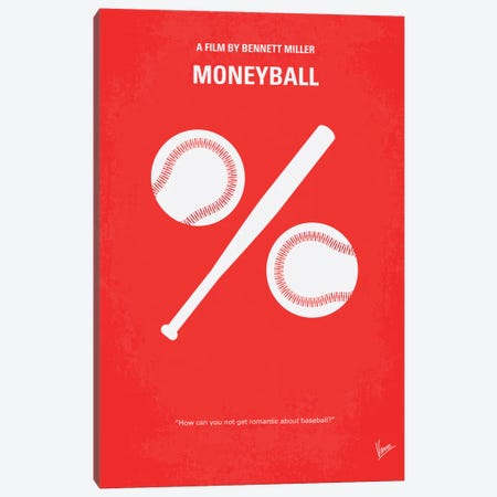Moneyball Minimal Movie Poster Canvas Print #CKG202} by Chungkong Canvas Art Print
