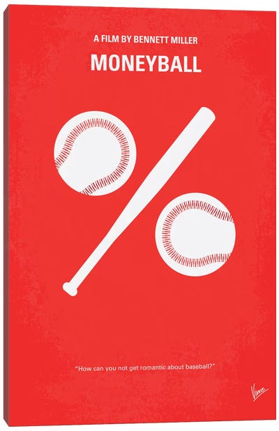 Moneyball Minimal Movie Poster Canvas Art Print