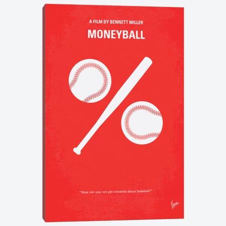 Moneyball Minimal Movie Poster Canvas Print #CKG202} by Chungkong Canvas Art Print