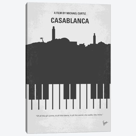 Casablanca Minimal Movie Poster Canvas Print #CKG203} by Chungkong Canvas Print
