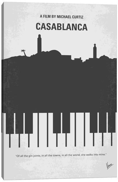 Casablanca Minimal Movie Poster Canvas Print #CKG203