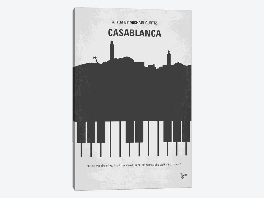Casablanca Minimal Movie Poster by Chungkong 1-piece Canvas Print
