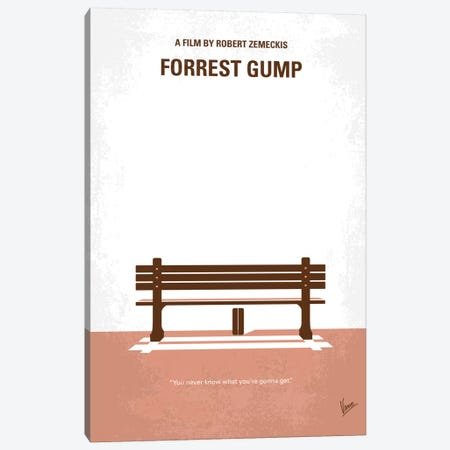 Forrest Gump Minimal Movie Poster Canvas Print #CKG204} by Chungkong Canvas Wall Art