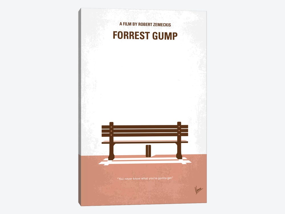 Forrest Gump Minimal Movie Poster by Chungkong 1-piece Canvas Artwork