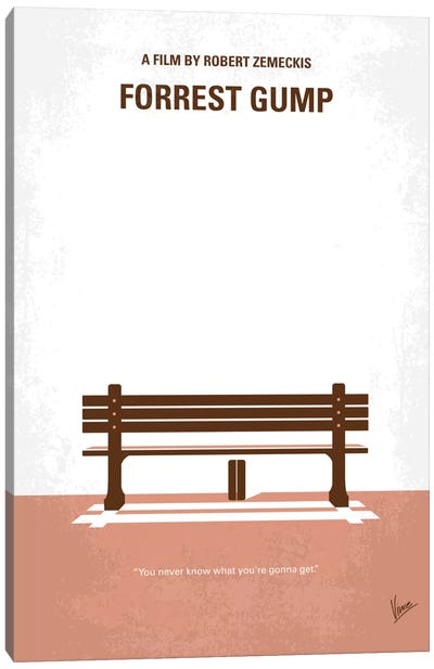 Forrest Gump Minimal Movie Poster Canvas Art Print