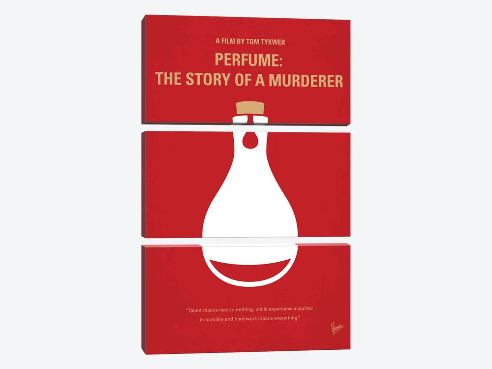 Perfume: The Story Of A Murderer Minimal Movie Poster by Chungkong 3-piece Canvas Art Print