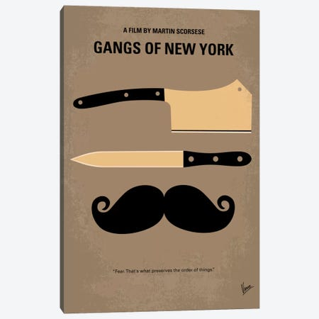 Gangs Of New York Minimal Movie Poster Canvas Print #CKG206} by Chungkong Canvas Art