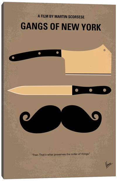 Gangs Of New York Minimal Movie Poster Canvas Art Print
