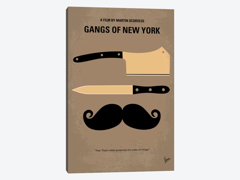 Gangs Of New York Minimal Movie Poster by Chungkong 1-piece Canvas Artwork
