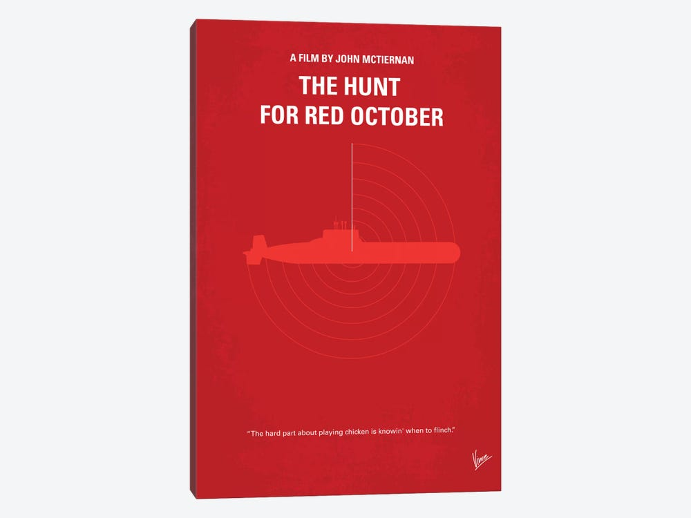 The Hunt For Red October Minimal Movie Poster by Chungkong 1-piece Canvas Art