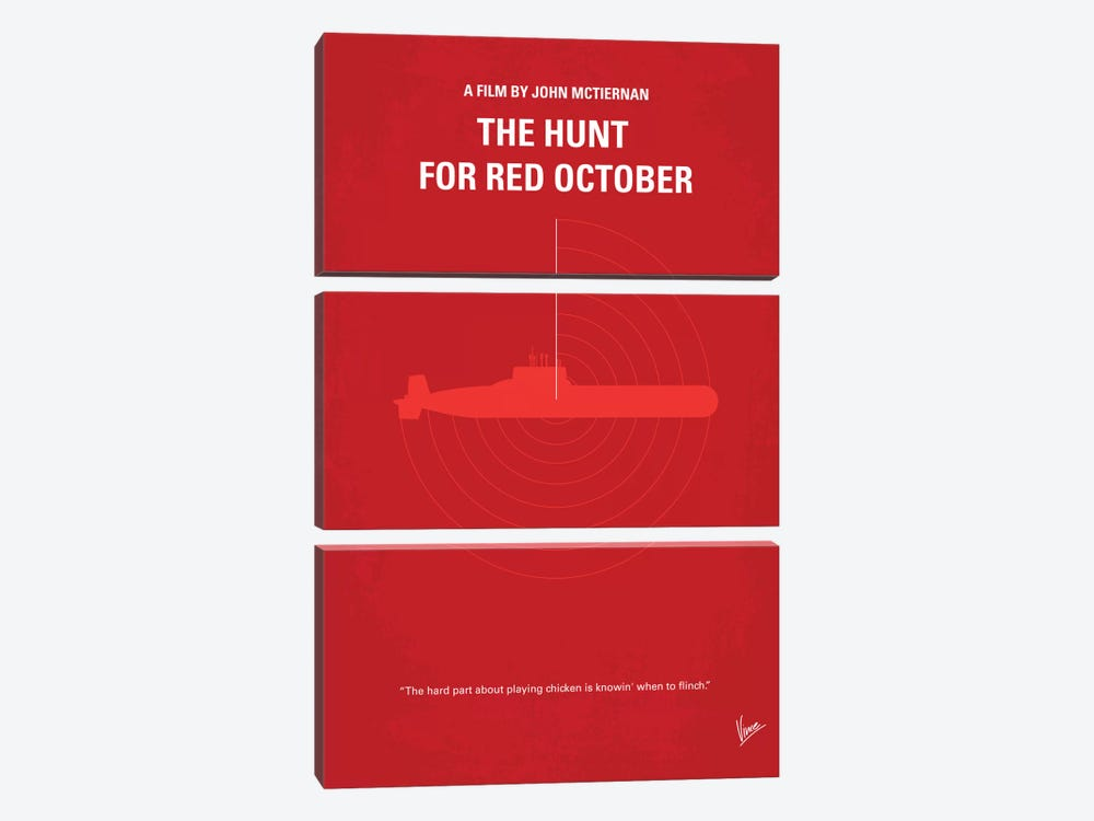 The Hunt For Red October Minimal Movie Poster by Chungkong 3-piece Canvas Artwork