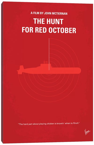 The Hunt For Red October Minimal Movie Poster Canvas Art Print