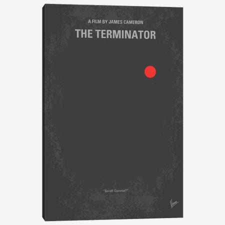 Terminator Minimal Movie Poster Canvas Print #CKG209} by Chungkong Canvas Art Print