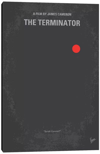 Terminator Minimal Movie Poster Canvas Art Print