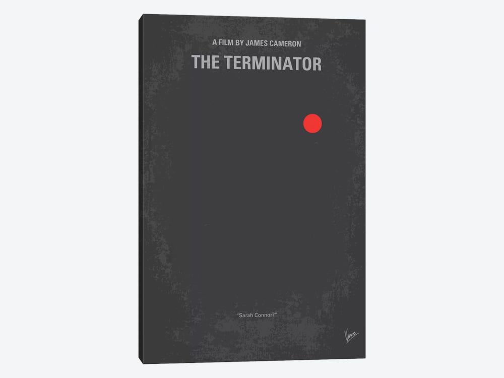 Terminator Minimal Movie Poster by Chungkong 1-piece Art Print