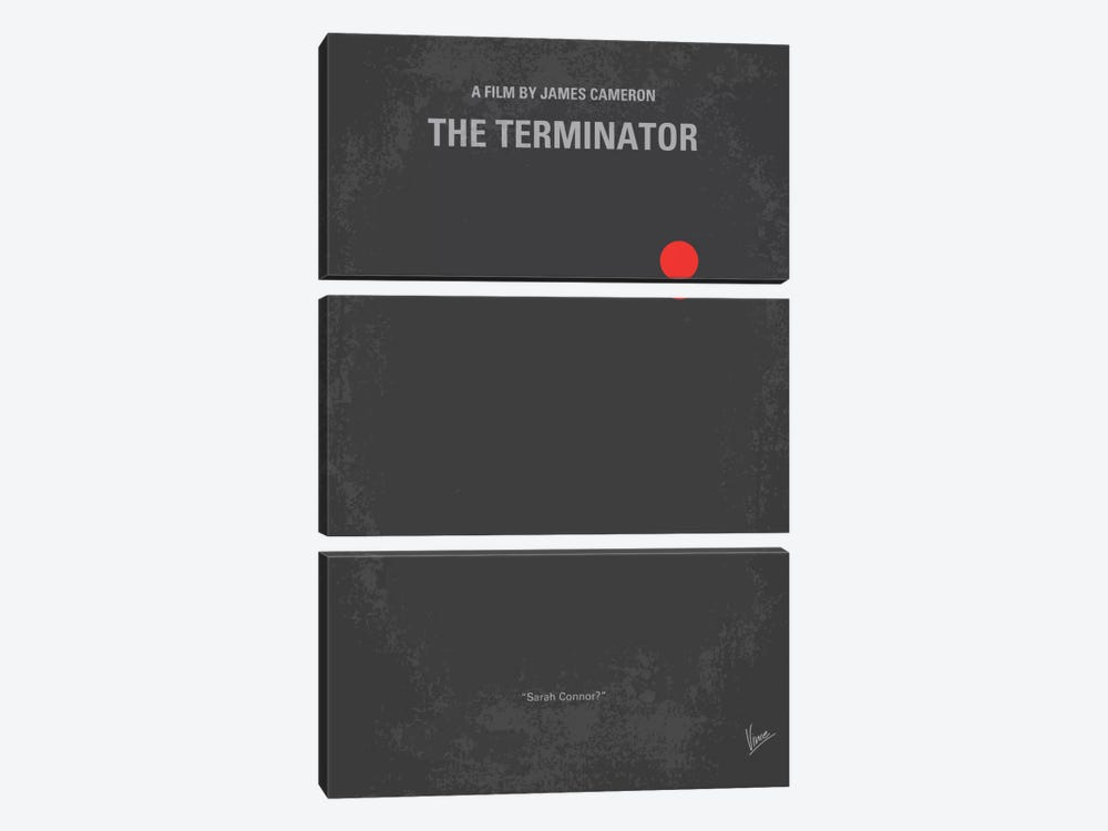 Terminator Minimal Movie Poster by Chungkong 3-piece Canvas Print