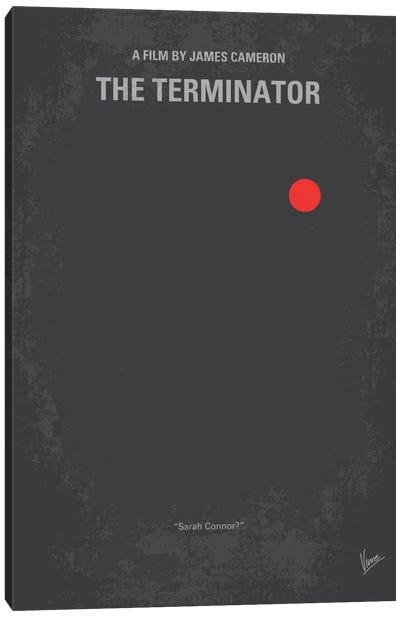 Terminator Minimal Movie Poster Canvas Art Print