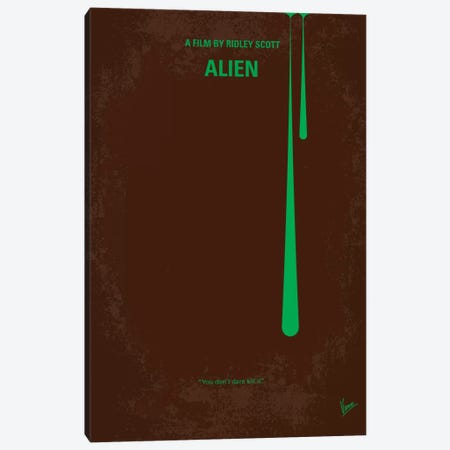 Alien Minimal Movie Poster Canvas Print #CKG20} by Chungkong Canvas Art Print