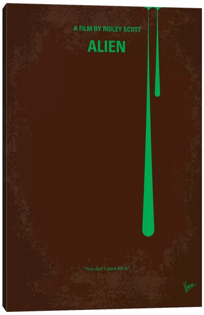Alien Minimal Movie Poster Canvas Print #CKG20